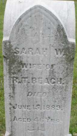 BEACH, SARAH  W. - Butler County, Ohio | SARAH  W. BEACH - Ohio Gravestone Photos