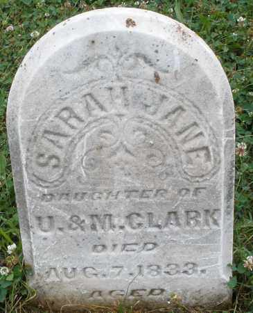 CLARK, SARAH  JANE - Butler County, Ohio | SARAH  JANE CLARK - Ohio Gravestone Photos