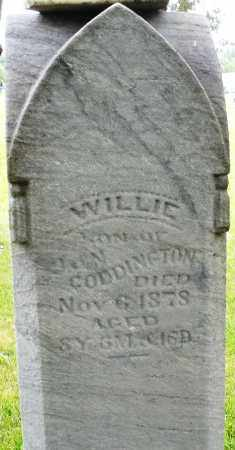 CODDINGTON, WILLIE - Butler County, Ohio | WILLIE CODDINGTON - Ohio Gravestone Photos
