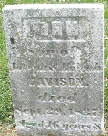 DAVISON, JOHN - Butler County, Ohio | JOHN DAVISON - Ohio Gravestone Photos