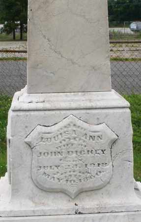 DICKEY, LOUISA ANN - Butler County, Ohio | LOUISA ANN DICKEY - Ohio Gravestone Photos