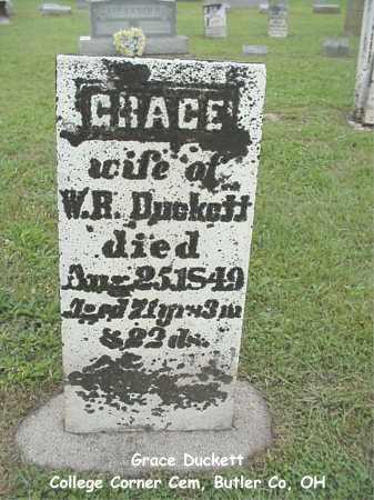 DUCKETT, GRACE - Butler County, Ohio | GRACE DUCKETT - Ohio Gravestone Photos