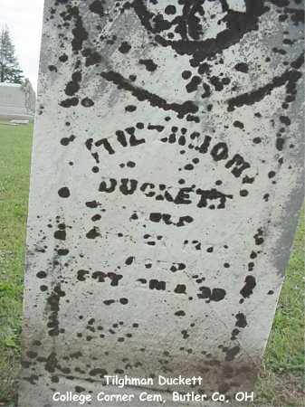 DUCKETT, TILGHMAN - Butler County, Ohio | TILGHMAN DUCKETT - Ohio Gravestone Photos