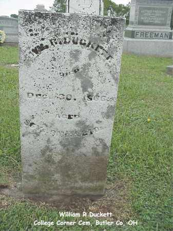 DUCKETT, WILLIAM - Butler County, Ohio   WILLIAM DUCKETT - Ohio Gravestone Photos