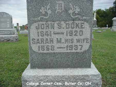 DUKE, JOHN - Butler County, Ohio | JOHN DUKE - Ohio Gravestone Photos