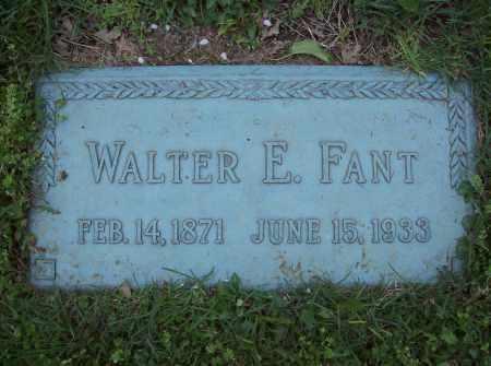 FANT, WALTER E. - Butler County, Ohio | WALTER E. FANT - Ohio Gravestone Photos