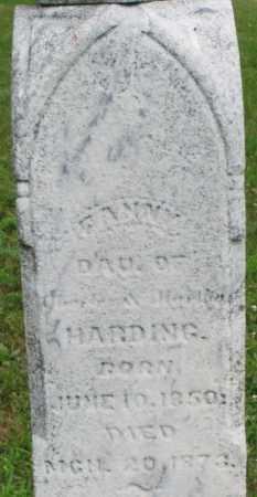 HARDING, FANNY - Butler County, Ohio | FANNY HARDING - Ohio Gravestone Photos