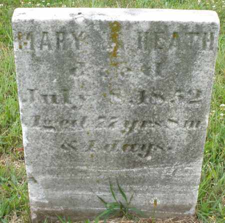 HEATH, MARY - Butler County, Ohio | MARY HEATH - Ohio Gravestone Photos