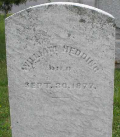 HEDDING, WILLIAM - Butler County, Ohio | WILLIAM HEDDING - Ohio Gravestone Photos