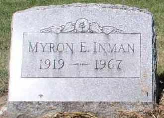 INMAN, MYRON E. - Butler County, Ohio | MYRON E. INMAN - Ohio Gravestone Photos