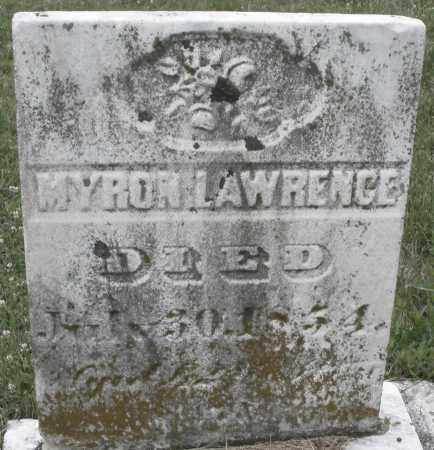 LAWRENCE, MYRON - Butler County, Ohio | MYRON LAWRENCE - Ohio Gravestone Photos