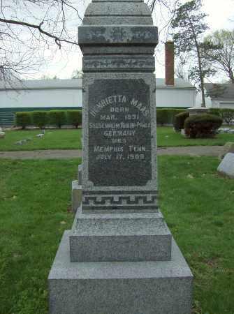MAAS, HENRIETTA - Butler County, Ohio | HENRIETTA MAAS - Ohio Gravestone Photos