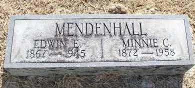 MENDENHALL, EDWIN E, - Butler County, Ohio | EDWIN E, MENDENHALL - Ohio Gravestone Photos