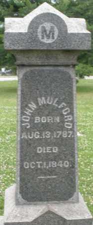 MULFORD, JOHN - Butler County, Ohio | JOHN MULFORD - Ohio Gravestone Photos