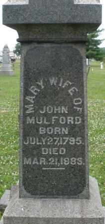 MULFORD, MARY - Butler County, Ohio | MARY MULFORD - Ohio Gravestone Photos