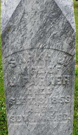 PARKER, SARAH  J. - Butler County, Ohio | SARAH  J. PARKER - Ohio Gravestone Photos