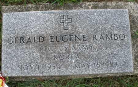 RAMBO, GERALD EUGENE - Butler County, Ohio | GERALD EUGENE RAMBO - Ohio Gravestone Photos