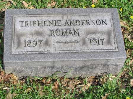 ROMAN, TRIPHENIE - Butler County, Ohio | TRIPHENIE ROMAN - Ohio Gravestone Photos