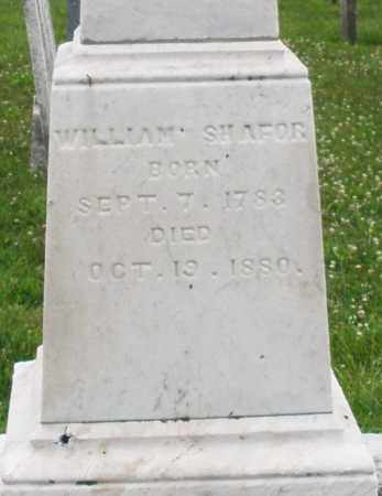 SHAFOR, WILLIAM - Butler County, Ohio | WILLIAM SHAFOR - Ohio Gravestone Photos