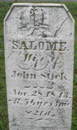 STICK, SALOME - Butler County, Ohio | SALOME STICK - Ohio Gravestone Photos