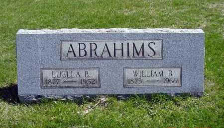 ABRAHIMS, LUELLA B. - Carroll County, Ohio | LUELLA B. ABRAHIMS - Ohio Gravestone Photos