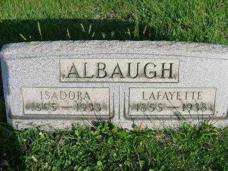 ALBAUGH, ISADORA - Carroll County, Ohio | ISADORA ALBAUGH - Ohio Gravestone Photos