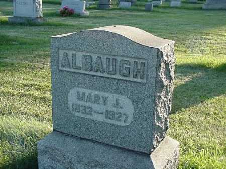 ALBAUGH, MARY J - Carroll County, Ohio | MARY J ALBAUGH - Ohio Gravestone Photos