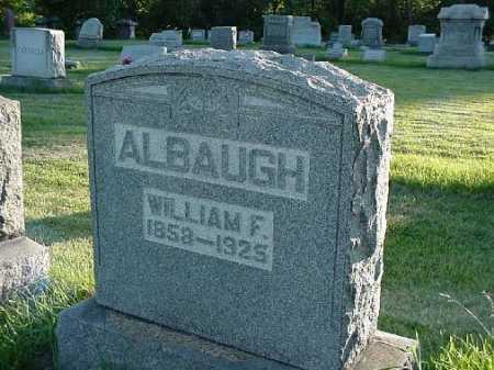 ALBAUGH, WILLIAM F. - Carroll County, Ohio | WILLIAM F. ALBAUGH - Ohio Gravestone Photos