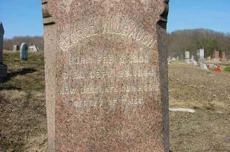 ALLBAUGH, GEORGE - Carroll County, Ohio   GEORGE ALLBAUGH - Ohio Gravestone Photos