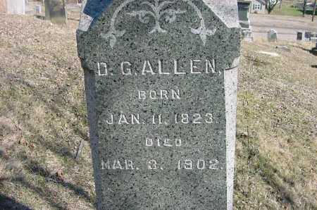 ALLEN, D. G. - Carroll County, Ohio | D. G. ALLEN - Ohio Gravestone Photos