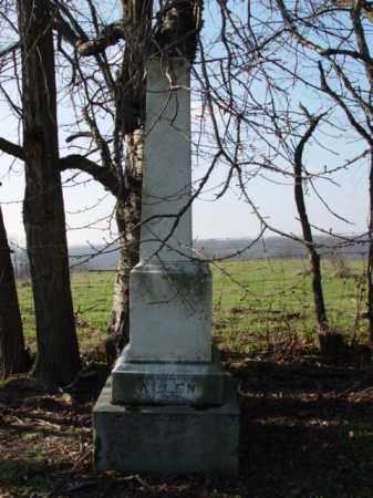 ALLEN, MONUMENT - Carroll County, Ohio | MONUMENT ALLEN - Ohio Gravestone Photos