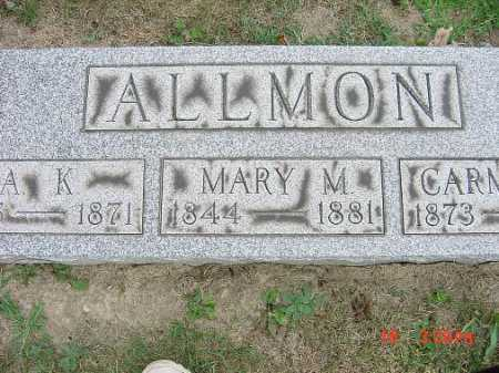 CREE ALLMON, MARY M. - Carroll County, Ohio | MARY M. CREE ALLMON - Ohio Gravestone Photos