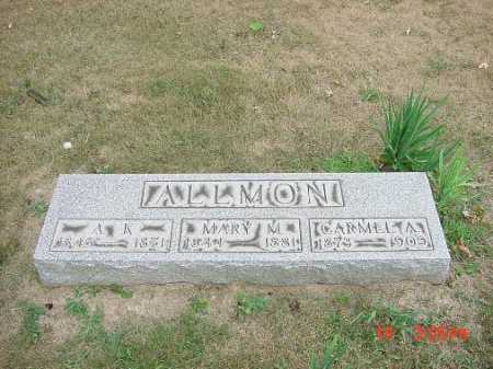 ALLMON, MONUMENT - Carroll County, Ohio | MONUMENT ALLMON - Ohio Gravestone Photos
