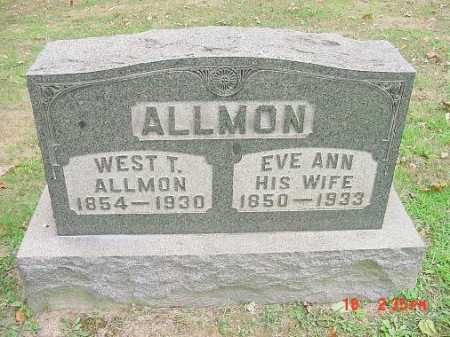 ALLMON, WEST T. - Carroll County, Ohio | WEST T. ALLMON - Ohio Gravestone Photos