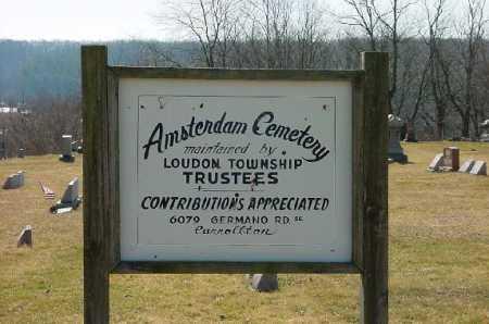 AMSTERDAM, CEMETERY SIGN - Carroll County, Ohio | CEMETERY SIGN AMSTERDAM - Ohio Gravestone Photos