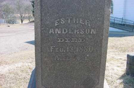 ANDERSON, ESTHER - Carroll County, Ohio | ESTHER ANDERSON - Ohio Gravestone Photos