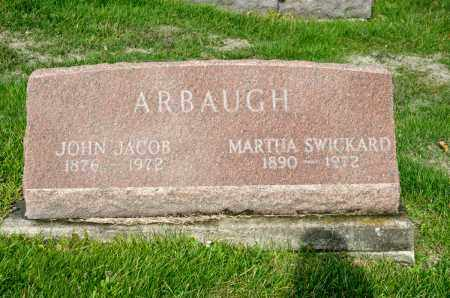 SWICKARD ARBAUGH, MARTHA - Carroll County, Ohio | MARTHA SWICKARD ARBAUGH - Ohio Gravestone Photos