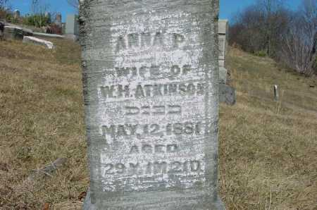 ATKINSON, ANNA P. - Carroll County, Ohio | ANNA P. ATKINSON - Ohio Gravestone Photos