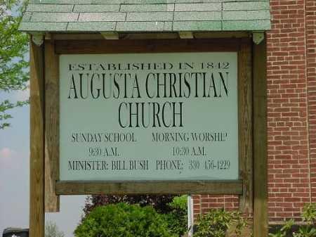 AUGUSTA CHRISTIAN CHURCH, SIGN - Carroll County, Ohio | SIGN AUGUSTA CHRISTIAN CHURCH - Ohio Gravestone Photos