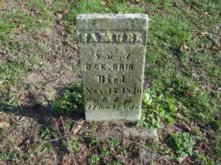 BAIR, SAMUEL - Carroll County, Ohio | SAMUEL BAIR - Ohio Gravestone Photos