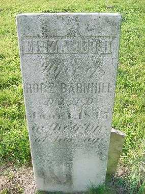 BARNHILL, ELIZABETH - Carroll County, Ohio | ELIZABETH BARNHILL - Ohio Gravestone Photos