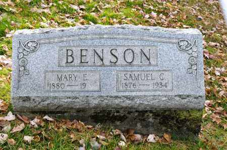 BENSON, MARY E. - Carroll County, Ohio | MARY E. BENSON - Ohio Gravestone Photos