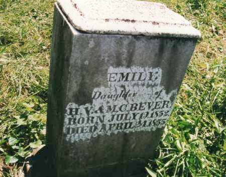 BEVER, EMILY - Carroll County, Ohio | EMILY BEVER - Ohio Gravestone Photos