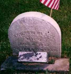 BLACK, ANDREW - Carroll County, Ohio | ANDREW BLACK - Ohio Gravestone Photos