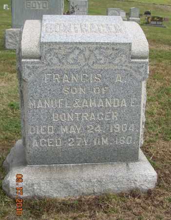 BONTRAGER, FRANCIS A - Carroll County, Ohio | FRANCIS A BONTRAGER - Ohio Gravestone Photos