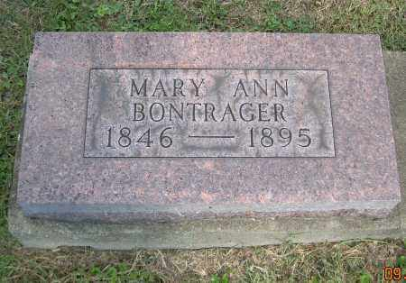 BONTRAGER, MARY ANN - Carroll County, Ohio | MARY ANN BONTRAGER - Ohio Gravestone Photos