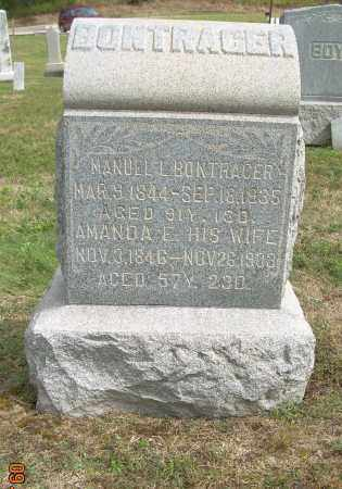 BONTRAGER, AMANDA E - Carroll County, Ohio | AMANDA E BONTRAGER - Ohio Gravestone Photos