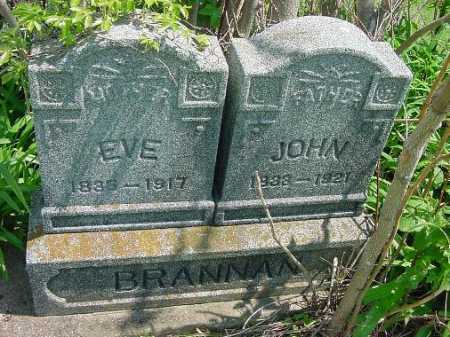 BRANNAN, EVE - Carroll County, Ohio | EVE BRANNAN - Ohio Gravestone Photos