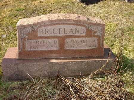 BRICELAND, MARGARET A. - Carroll County, Ohio | MARGARET A. BRICELAND - Ohio Gravestone Photos