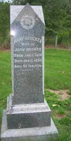 HAGERTY BROWER, MARY - Carroll County, Ohio | MARY HAGERTY BROWER - Ohio Gravestone Photos